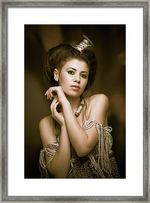 Threads Queen Framed Print by Dmitry Krasitsky