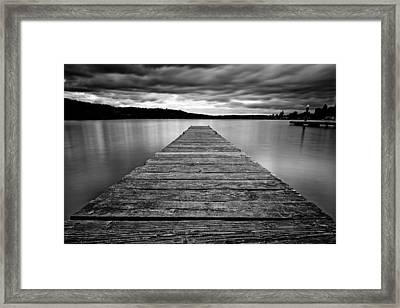 Threatening Sky Framed Print by Dan Mihai