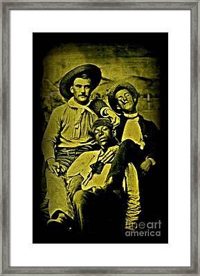 Three 1880s Midwestern Ruffians Framed Print by Peter Gumaer Ogden