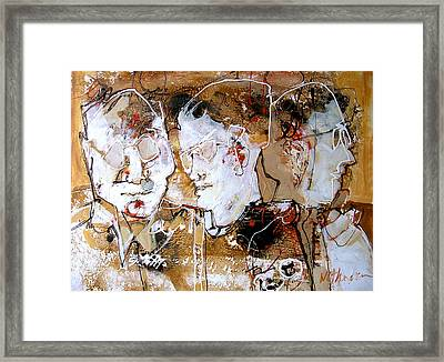 Three Advisors Framed Print by Dale  Witherow