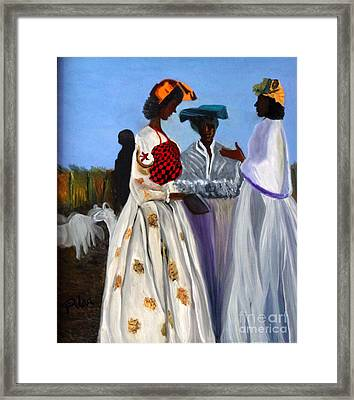 Three African Women Framed Print by Pilar  Martinez-Byrne