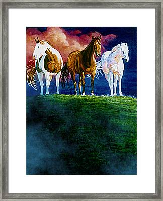 Three Amigos At Sunrise Framed Print by Hanne Lore Koehler