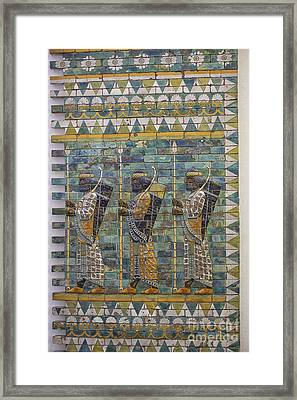 Three Ancient Warriors Framed Print by Patricia Hofmeester