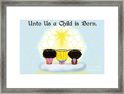 Three Angels Ethnic Framed Print by Chere Lei