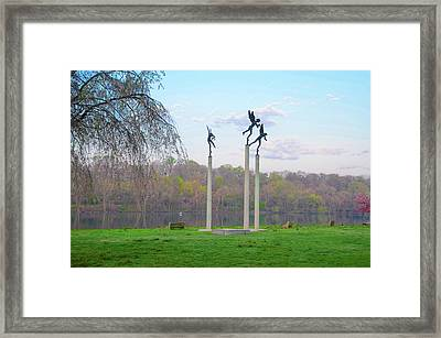 Framed Print featuring the photograph Three Angels In Spring - Kelly Drive Philadelphia by Bill Cannon