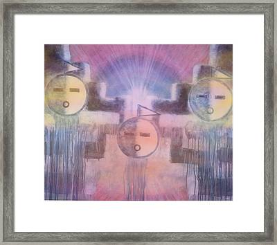 Three Angels Of The Thunder Clouds Framed Print by Anastasia Savage Ealy