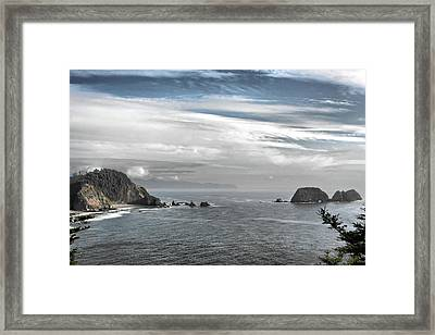 Three Arch Rocks National Wildlife Refuge Near Cape Meares Oregon Framed Print by Christine Till