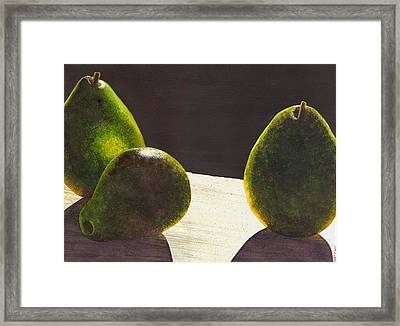 Three Backlit Framed Print by Catherine G McElroy