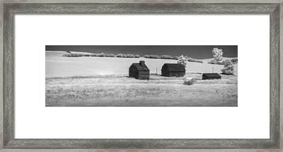 Three Barns Idle Framed Print