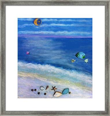 Three Beaches C Framed Print