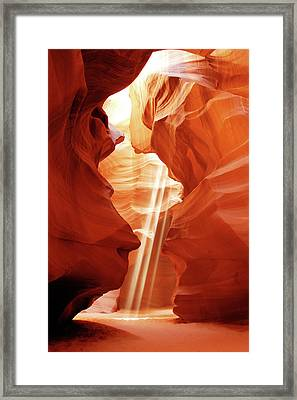Framed Print featuring the photograph Three Beams by Norman Hall