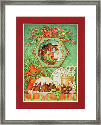 Three Bears Christmas Framed Print by Lynn Bywaters