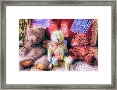 Three Bears Framed Print by Garry Gay