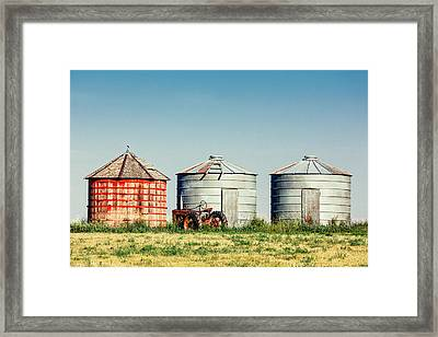 Three Bins Framed Print
