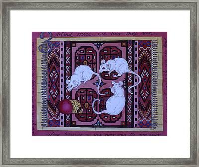 Three Blind Mice Framed Print by Victoria Heryet