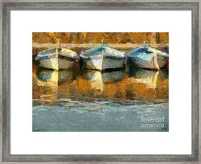 Three Boats Framed Print by Dragica  Micki Fortuna