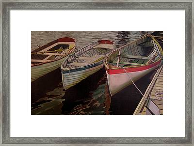 Three Boats Framed Print