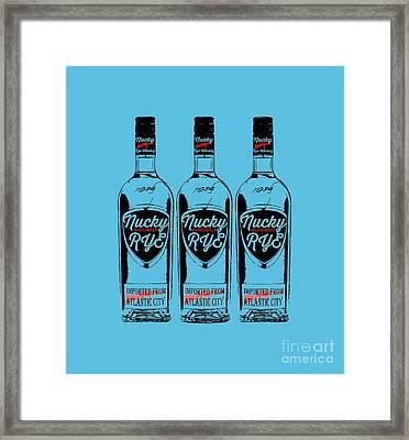 Three Bottles Of Nucky Rye Tee Framed Print by Edward Fielding