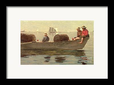 Boats In Reflecting Water Framed Prints