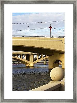Framed Print featuring the photograph Three Bridges by Phyllis Denton