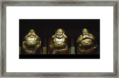 Three Buddhas Framed Print
