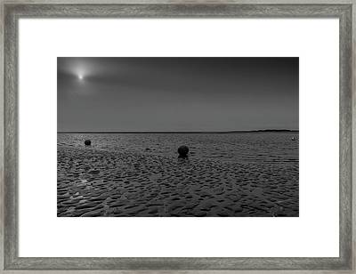 Three Buoys Framed Print