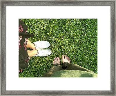 .three. Framed Print by C Azzolini