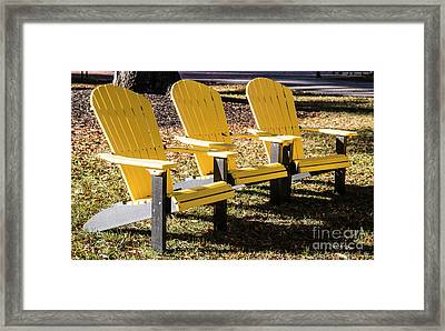 Three Chairs For Sitting 5704 Framed Print by Doug Berry
