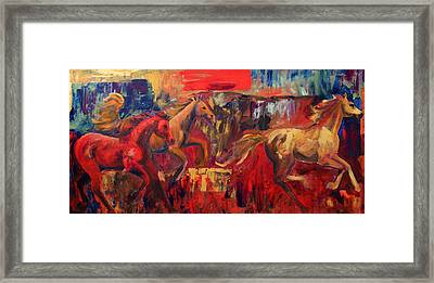 Three Framed Print by Cher Devereaux