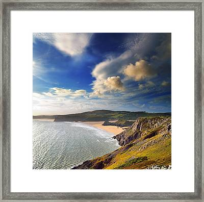 Three Cliffs Bay 1 Framed Print