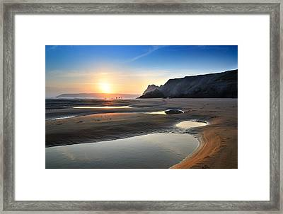 Three Cliffs Bay 2 Framed Print