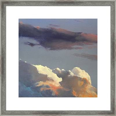 Framed Print featuring the painting Three Clouds Sold by Cap Pannell