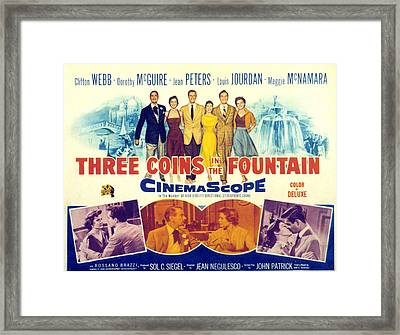Three Coins In The Fountain, Clifton Framed Print