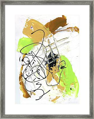 Framed Print featuring the painting Three Color Palette by Michal Mitak Mahgerefteh