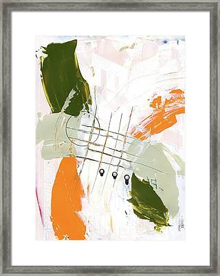 Three Color Palette Orange 3 Framed Print by Michal Mitak Mahgerefteh
