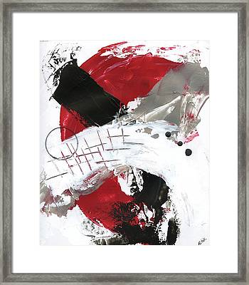 Three Color Palette Red 2 Framed Print by Michal Mitak Mahgerefteh
