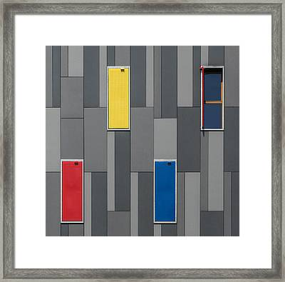 Three Colors And A Window Framed Print