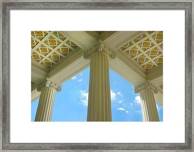 Three Columns Framed Print by Dan Holm