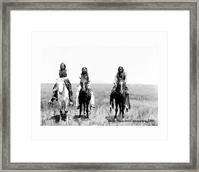 Three Commanches Framed Print by John Feiser