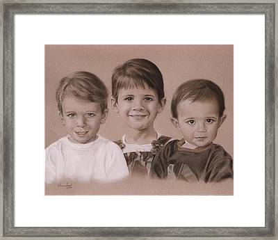 Three Cousins Framed Print