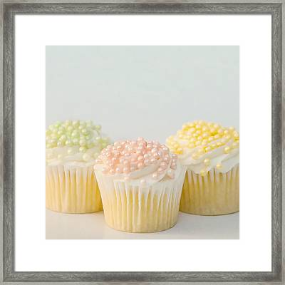 Three Cupcakes Framed Print by Art Block Collections