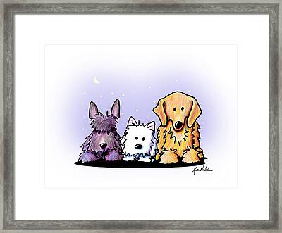 Three Dog Night Framed Print by Kim Niles