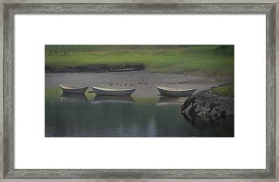 Three Dories Framed Print