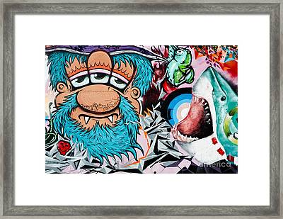 Three Eyed And The Shark Framed Print