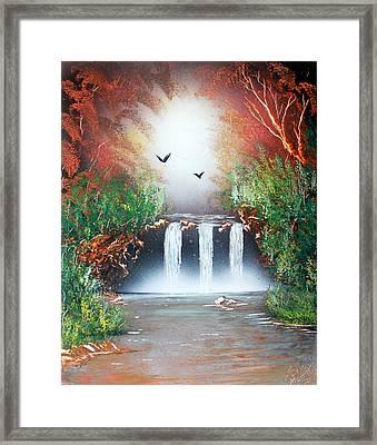 Three Falls Framed Print by Greg Moores