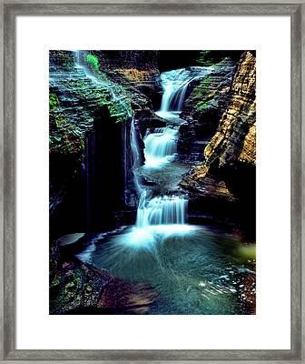 Three Falls Framed Print