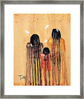 Three Feathers Framed Print by Patrick Trotter