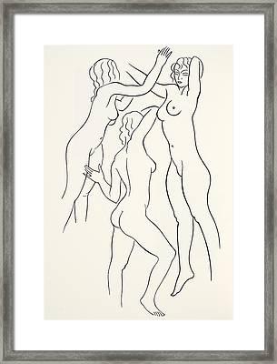 Three Female Nudes Framed Print