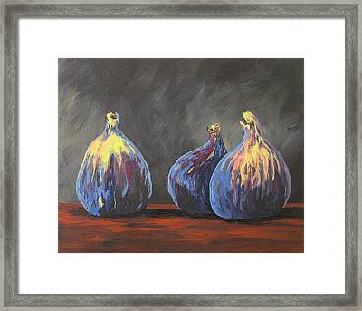 Three Figs Framed Print