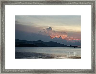 Three Fishermen Framed Print by Michelle Meenawong